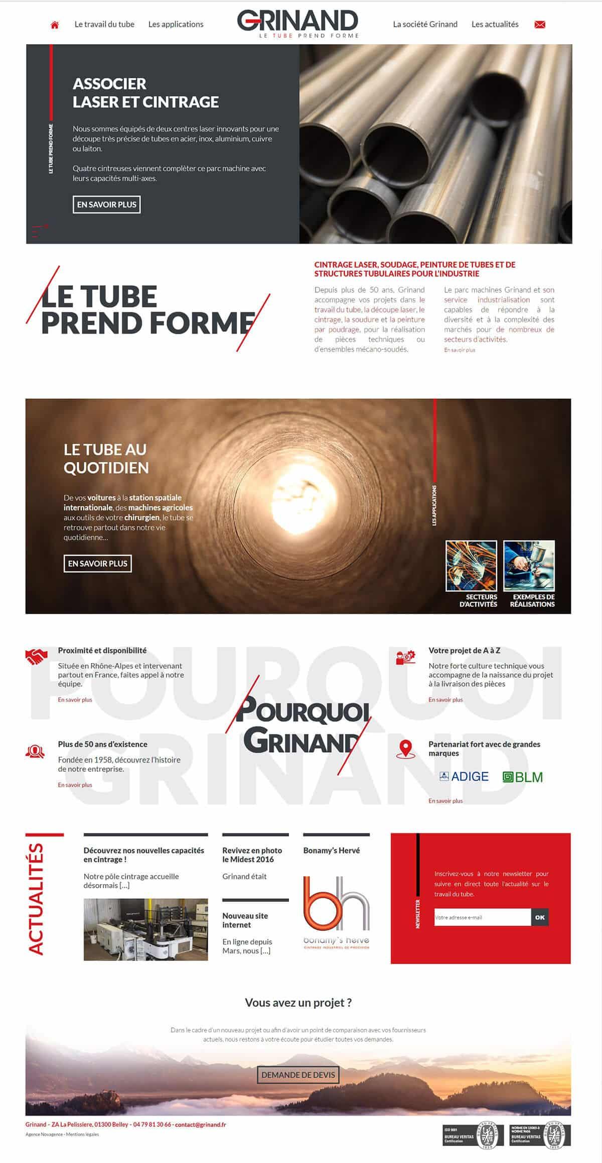 Nouveau site de Grinand