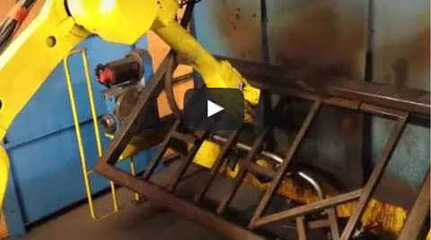 Welding carried out by a robot